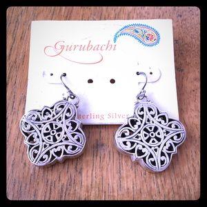 Gurubachi sterling silver earrings